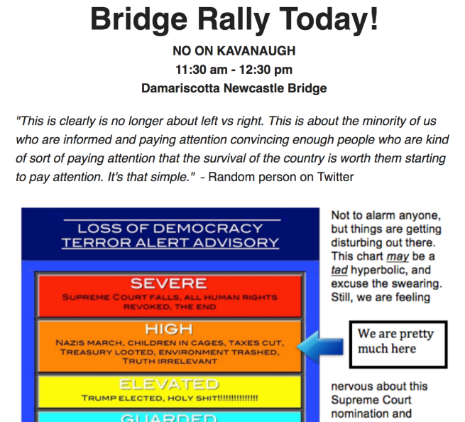 bridge rally today